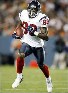 If Tyler wants Andre Johnson he'll have to be willing to spend a first-round pick.
