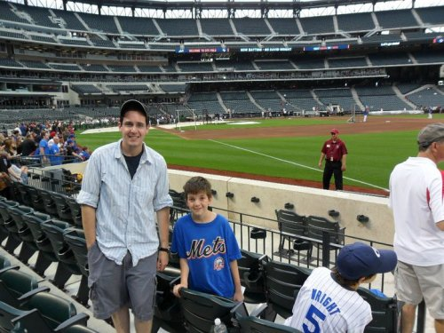 Me and my brother, young Kevin Vispoli, at a Mets game in 2010.