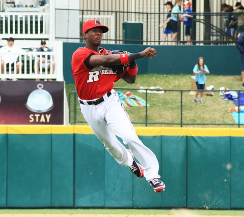 Before the season, most knew that Jurickson Profar would one day reach the big leagues.  Few expected it to happen in 2012 as a 19-year-old. (Alex Yocum-Beeman/RoughRiders)