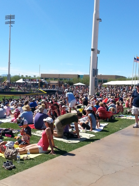 The lawn section was absolutely packed for the M's and Rangers.