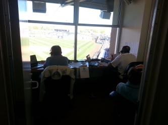 Eric Nadel (left) and Matt Hicks giving listeners every Josh Wilson detail they could ask for,