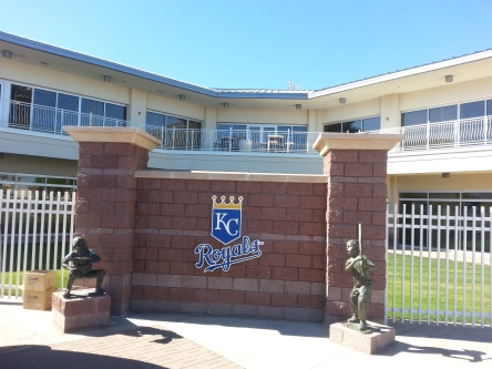 Kansas City's offices are located on the third base side of the park, exactly opposite (an equal, by all appearances) of the Rangers'. These kids must know that they could never be Royals.