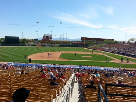 Bring a hat to Camelback Ranch, because there is very little shade for a vast majority of the seats.
