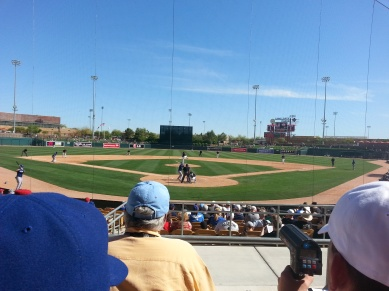 A scout's view at Camelback Ranch.