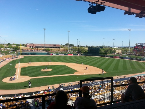 Tommy Hansen faces the White Sox at beautiful Camelback Ranch.