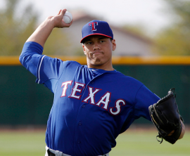 Rangers pitcher Keone Kela at spring training in Surprise, Az., (Rodger Mallison/Fort Worth Star-Telegram/TNS via Getty Images)